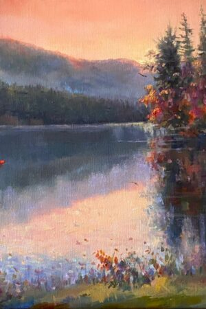 Lake Logan Serenity - oil painting