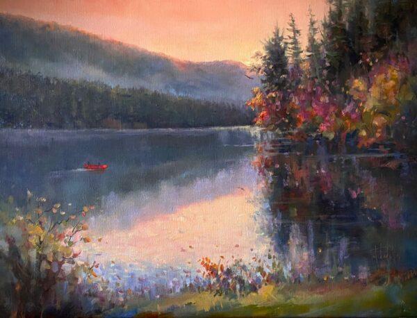 Lake Logan Serenity - oil painting